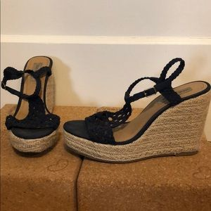 Steve Madden Navy Wedges